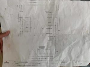 Plans for the kitchen and a nice pose from one of the lads...